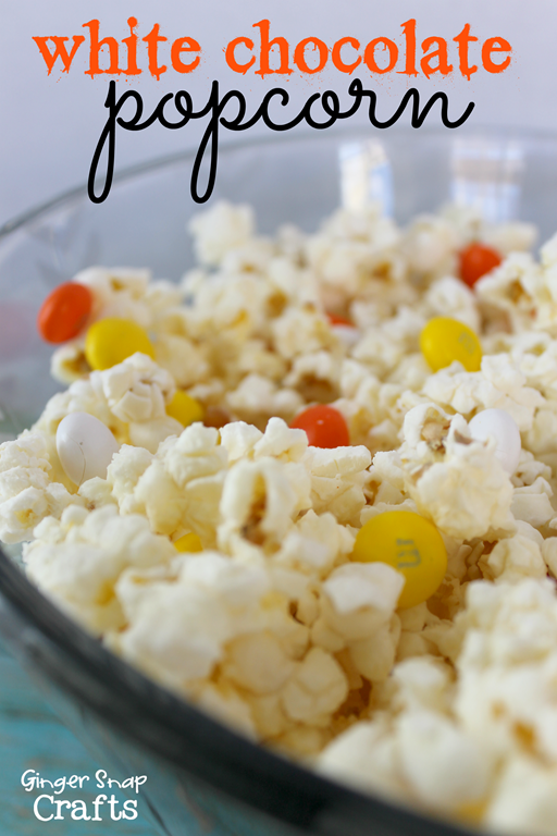 White Chocolate Popcorn #recipe #gingersnapcrafts