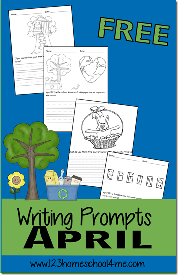 April Writing Prompts for Kids - So many furn, creative writing prompts for kids from K-4th grade to practice writing in April