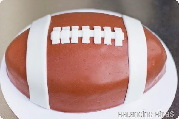 Football Cake - Balancing Bites