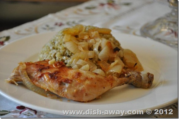 Chicken with Onions Recipe by www.dish-away.com