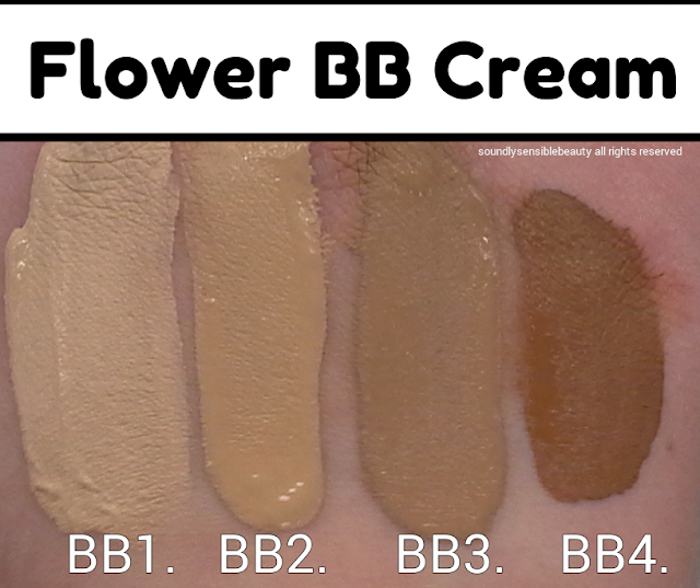 Flower BB Cream by Drew Barrymore; Review & Swatches of Shades BB1, BB2, BB3, BB4