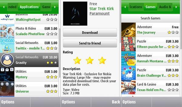 Descargar Tienda Ovi para celulares gratis