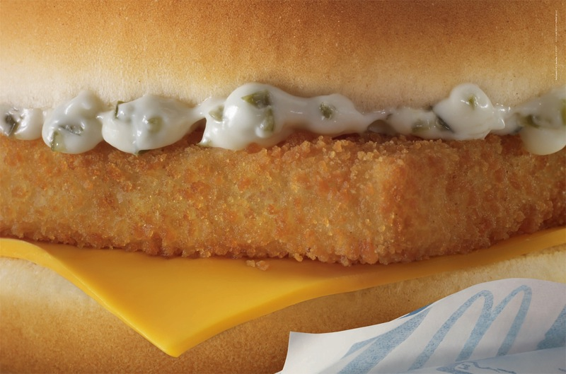Mcdonalds unbranded filet o fish aotw