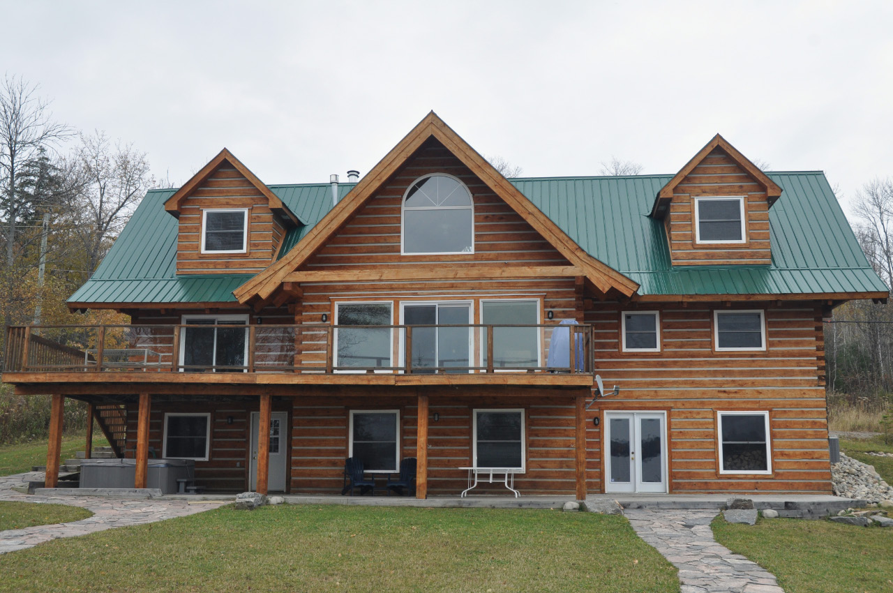 Marvelous photograph of your own beautiful eco friendly energy efficient custom log home  with #6A4834 color and 1280x850 pixels