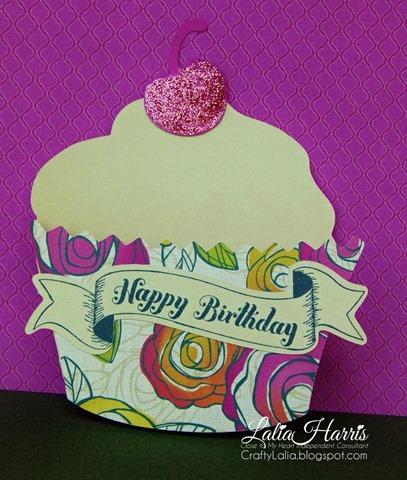 cupcake diecut card ctmh artiste flirty