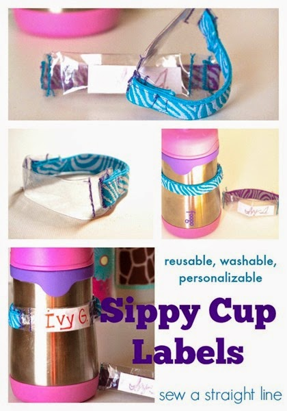 diy sippy cup labels sew a straight line