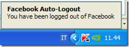 Notifica di disconnessione automatica del nostro account effettuata da Facebook Auto-Logout