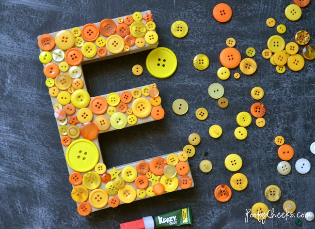 Easy Button Letter Plaque Decor
