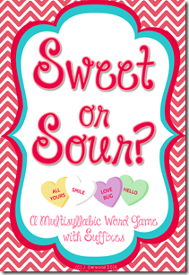 Valentine's Day Multisyllabic Word Game preview