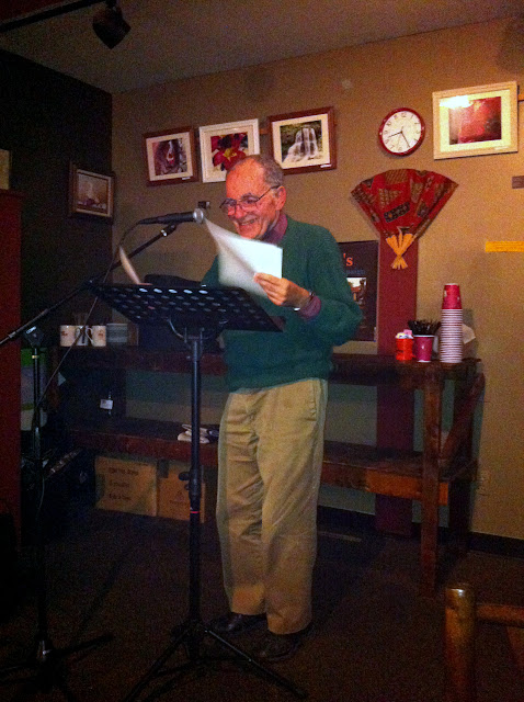 Joe Krausman at the last Professor Java&#039;s Wide Open Mic