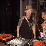 the DJs on the outdoor patio in Yokohama, Kanagawa, Japan