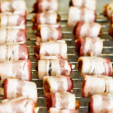 Bacon (or Pancetta) Wrapped Dates