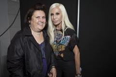Suzy Menkes;Donatella Versace