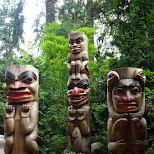 totempoles at the Capilano Suspension Bridge in North Vancouver, British Columbia, Canada