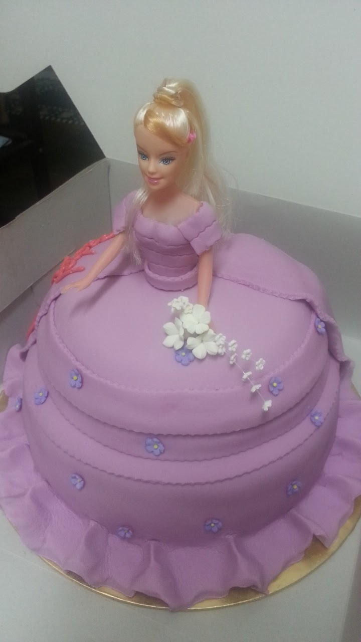 Barbie Chocolate Cake Images : QUICK TAKES: Purple Dress Barbie Chocolate Cake