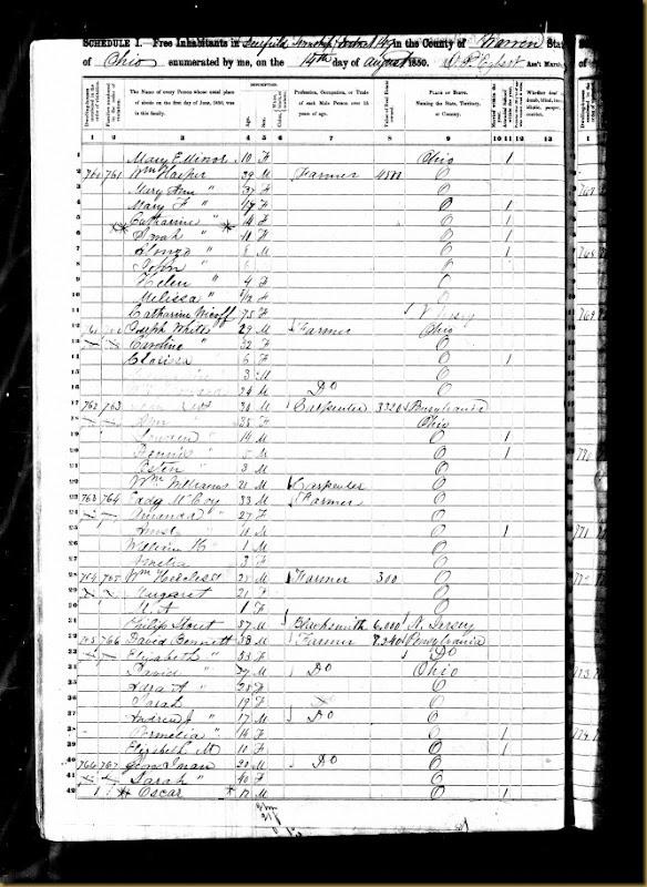 William Harper 1850 US Federal Census