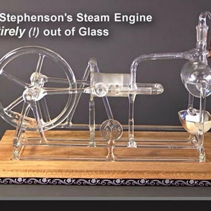 Ατμομηχανή από γυαλί