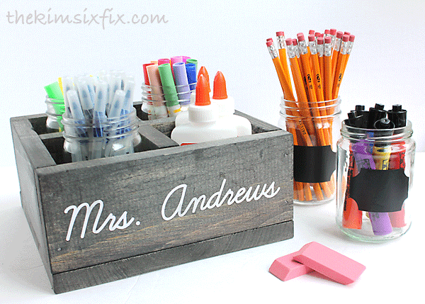 Teacher gift school supplies