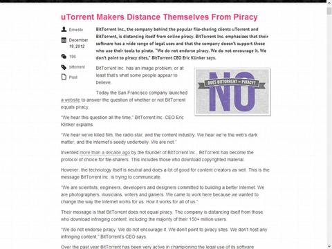 uTorrent Makers Distance