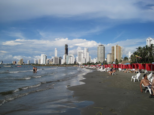 Bocagrande beach, Cartagena, Colombia