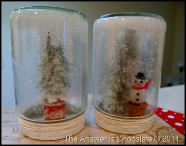 Tree and Snowman Jars