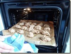 Koekjes de oven in