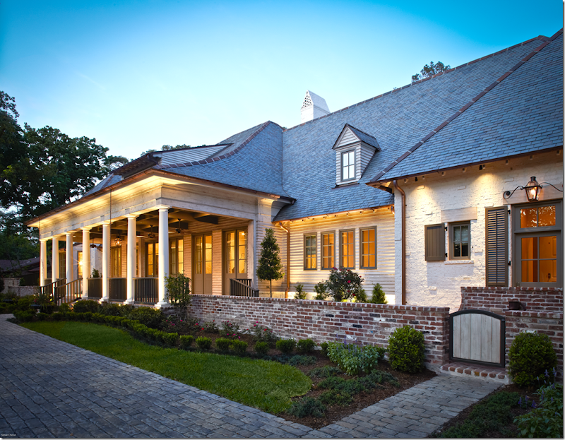 Acadian house with brick and stone joy studio design for Acadian homes