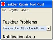 Riparare problemi della barra delle applicazioni di Windows XP con Taskbar Repair Tool Plus