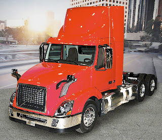 The 11.9-liter ISX12 G-powered Volvo VNL daycab offers customers 123 inches bumper-to-back-of-cab and has an 80,000-pound gross combination weight rating -- compared with 113-inch BBC and a 66,000 pounds GCWR for the 8.9-liter ISL G-powered VNM daycab introduced last year.