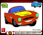 Cars 2 finn mc missile coloring game