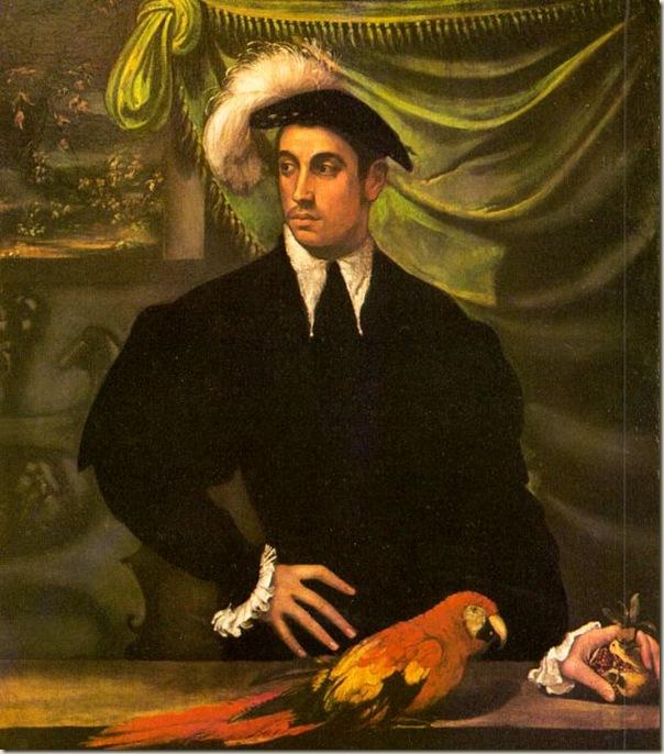 Nicolo del Abate, L'homme au perroquet