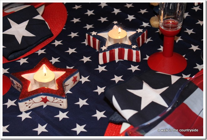 patriotic table for 4th of july