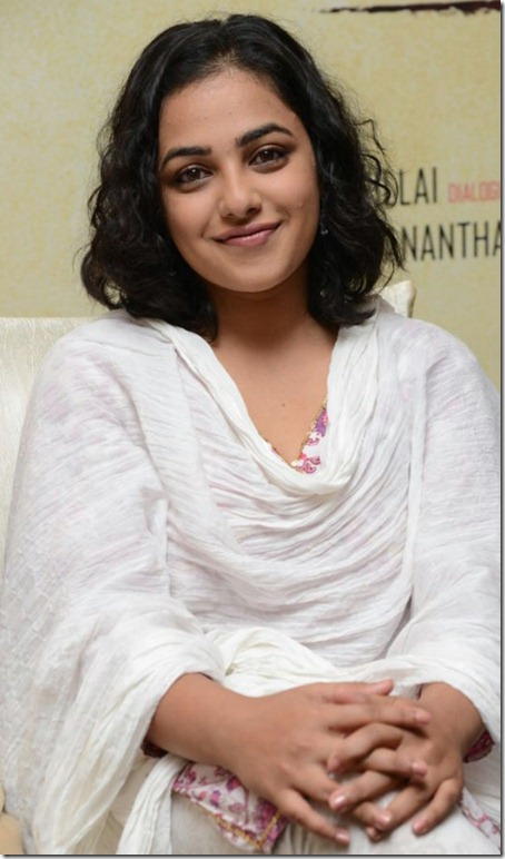Nithya Menon Recent Pics at Malini 22 Vijayawada Press Meet