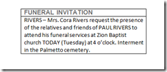 Capture- Funeral Invitation