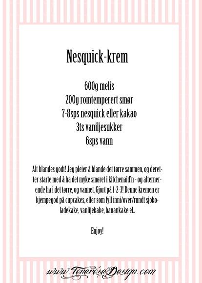 nesquick-krem oppskrift smørkrem