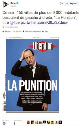 Libération Portada de diluns 1er abrial