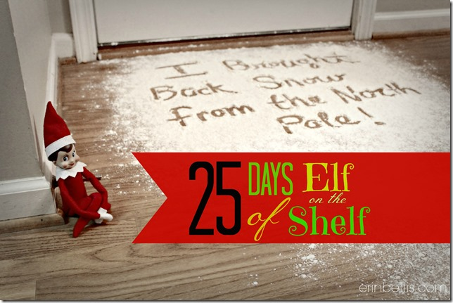 25 Days of Elf on the Shelf ideas