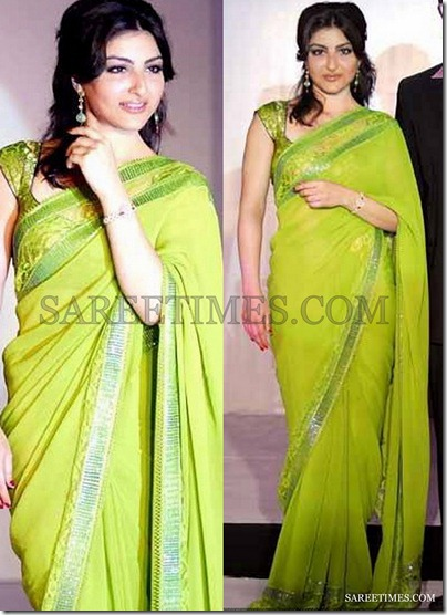 Soha_Ali_Khan_Green_Saree