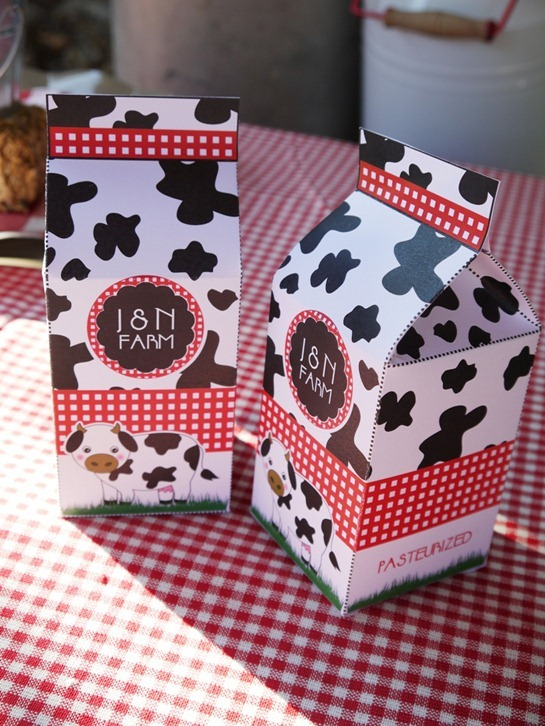 Barnyard Birthday - Milk Cartons