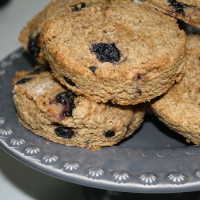 Whole Wheat-Blueberry Scones