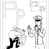 alfabeto P.Policía blanco y negro.jpg