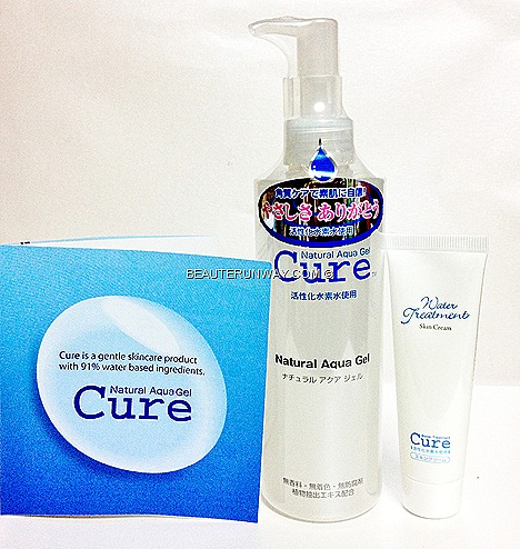 CURE NATURAL AQUA GEL FACIAL EXFOLIANT REVIEW remove dead skn cell gently effectively skin renewal younger brighter smoother skin japan best seller no 1 WATER TREATMENT SKIN CREAM hand cream chapped dry skin hydrate