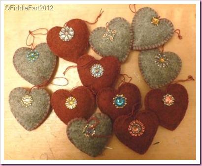 Ikea felt hearts 1