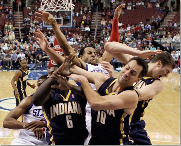 APTOPIX Pacers 76ers Basketball