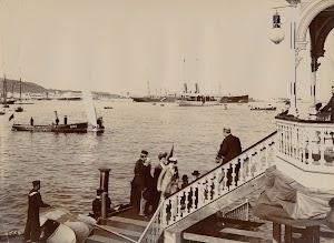 Otra vista de la visita real a Canarias en 1906. Al fondo el GIRALDA. Archivo FEDAC.jpg