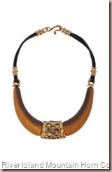 Mountain Horn Collar Necklace