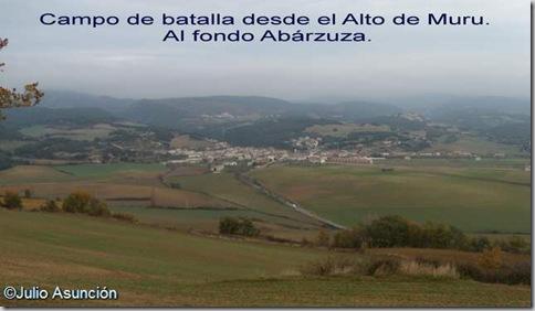 Campo de batalla de la batalla de Abárzuza - Monte Muru