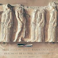 14.- Fidias. Procesión de las Panateneas