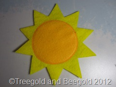 Tutorial Felt Sun Ornament