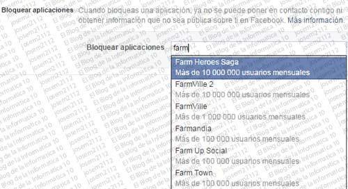 Desactivar invitaciones a juegos en Facebook - bloquear aplicaciones
